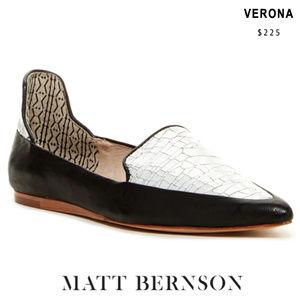 NWOT: Matt Bernson - 'Verona' Flat (WHITE CRACKLE)